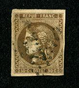 Superbe Cérès N° 47d (brun Foncé) Oblitéré - Signé CALVES - TTBE - Pas De Pli - Pas D'aminci - Cote Mini 350,00 € - 1870 Emission De Bordeaux
