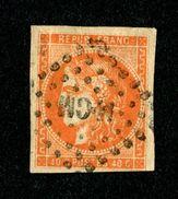 Cérès N° 48a (orange Vif) Oblitéré - Léger 2ème Choix - Pas De Pli - Cote Mini 220,00 € - 1870 Bordeaux Printing