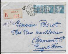 1935 - LETTRE RECOMMANDEE De ALGER => CLERMONT-FERRAND - Algérie (1924-1962)
