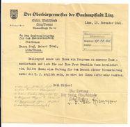 1 Schreiben - Linz, 15.11.1941 - Announcements