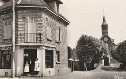 BREVIANDES - LA BOULANGERIE - L'EGLISE - TRES BELLE CARTE PHOTO ANIMEE - ANNEE 60 - 2 SCANNS -  TOP !!! - France
