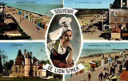 14 SOUVENIR DE LION-SUR-MER MULTI-VUES - Autres Communes