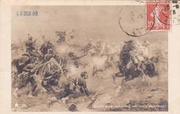 SALON 1909. PERBOYRE, ARTILLERIE SURPRISE. CIRCULEE TO Sta ROSA DE CANELONES-TBE-BLEUP - Peintures & Tableaux