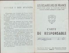 3 Cartes De RESPONSABLES 1958 à 1960 LES ECLAIREURS DE FRANCE (Scoutisme) - Maps