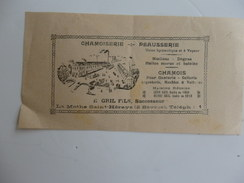 Carte Publicitaire Sur La Chamoiserie-peausserie E. Gril Fils à La Mothe Saint-Héraye (2 Sévres). - Maps