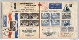 Nederlands Indië - 1934 - MacRobertson, Speciale SCVT Envelop (tuberculose) Batavia- Amsterdam- Melbourne - Niet 100% - Nederlands-Indië