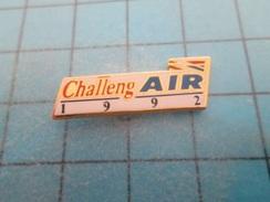 Pin510c Pin's Pins : BEAU ET RARE :  AVION CIVIL COMPAGNIE AERIENNE AIR FRANCE CHALLENGAIR 1992  , Marquage Au Dos : - - Airplanes