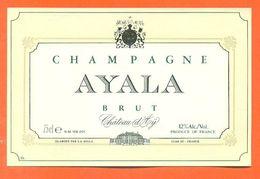 Etiquette De Champagne Brut  Ayala à Chateau D'ay - 75 Cl - Champagner