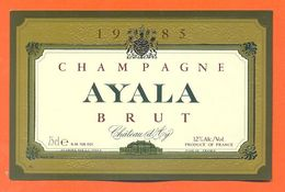 Etiquette De Champagne Brut 1985 Ayala à Chateau D'ay - 75 Cl - Champagner