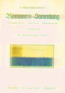6. Kruschel Auktion 1975 - Romanow Teil 2 Braunschweig, Hannover + Mecklenburg Seltener Katalog - Auktionskataloge