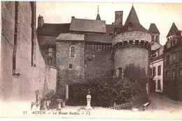 CPA N°17532 - LOT DE 2 CARTES D' AUTUN - LE MUSEE DE ROLLIN ET STATUE DE BULLIOT, FONDATEUR - Autun