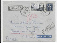 1954 - ALGERIE - LETTRE EXPRES Par AVION De ALGER => EPINAY SUR SEINE - Algérie (1924-1962)