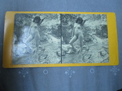 Vue Stereoscopique Nu  Nude Femme  Jeune Fille - Stereoscopic