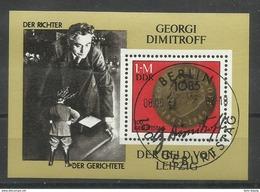 """DDR Bl.68 """"100. Geburtstag Von G.M.Dimitroff"""" Sonderstempel Mi.-Preis 3,40 - Blocs"""