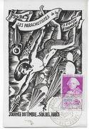 1949 - ALGERIE - CARTE POSTALE JOURNEE DU TIMBRE De SIDI BEL ABBES - PARACHUTISTES DE LA LEGION ETRANGERE - Algérie (1924-1962)