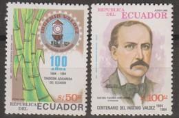 Ecuador 1985 MiN°1986-1987 2v MNH - Ecuador