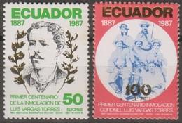 Ecuador 1988 MiN°2061-62 2v MNH - Ecuador