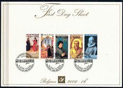 Belgie Belgique  2002 OCBn° 3471-3475 First Day Sheet  (°) Oblitéré Used Cote 8,50 Euro - FDC