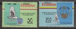 Ecuador 1988 MiN°2069-70 2v MNH - Ecuador