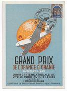 1949 - ALGERIE - CARTE POSTALE Du GRAND PRIX D'AVIATION De L'ORANGE à ORAN Avec OBLITERATION TEMPORAIRE ILLUSTREE - Algerien (1924-1962)