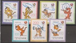 Ecuador 1989 MiN°2104 7v.MNH - Ecuador