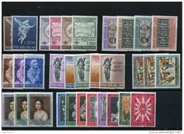 VATICANO - VATICAN - 1962 - Annata Completa + Posta Aerea - 32 Valori - Complete Year - ** MNH/VF - Annate Complete