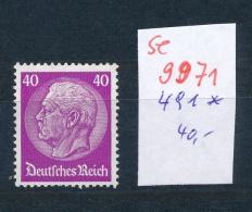 D.-Reich Nr. 491 *    (se 9971  ) -siehe Bild - Germany