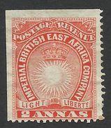 British East Africa, 2 A. 1890, Sc # 16, Mi # 6A, MH. - Africa Orientale Britannica