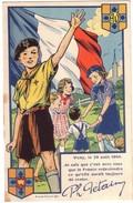 VICHY - 29 Août 1940 - Texte De Ph Petain -Au Verso Scouts  Coeurs Vaillants - Ames Vaillantes. - Vichy