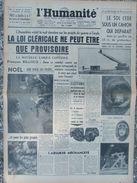 L'Humanité - (24 Déc 1959) Loi Cléricale - Décharge Romainville- - 1950 - Oggi