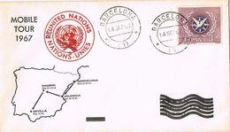 27040. Carta BARCELONA 1967. Mobile Tour, Reunited Nations - 1931-Hoy: 2ª República - ... Juan Carlos I