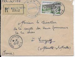 1961 - ALGERIE - ENVELOPPE FM RECOMMANDEE Par AVION Du SP 86275 => LONGWY - Postmark Collection (Covers)