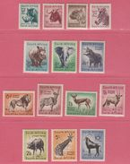 1954 ** (sans Charn., MNH, Postfrish)  SOUTH AFRICA Wild Life Yv 201/14  Mi 239/53 (14v) Complete - Non Classés