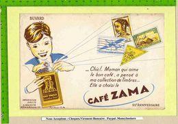 BUVARD / BLOTTER /  :Café ZAMA  Sao Paulo XX Eme Anniversaire .Timbres - Coffee & Tea