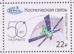 Russia 2017,Space,Russian Satellite Communication Company 50th Anniv,Rus.Cat #2283,XF MNH** - Space