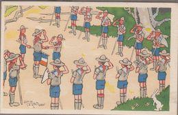 LES ECLAIREURS UNIONISTES DE FRANCE (Scoutisme) Série Complète 10 Cartes Fantaisies... Signée Alain SAINT-OGAN - Scoutisme
