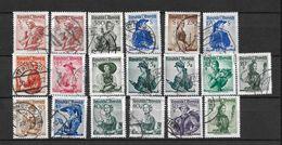 LOTE 1560 /// AUSTRIA 1958   YVERT Nº: LOTE SERIE VESTIDOS  REGIONALES - 1945-60 Usati