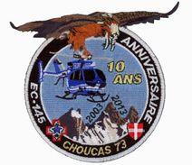 Patch HELICOPTERE GENDARMERIE 10 ANS DAG MODANE CHOUCAS 73 2003 2013 - Police & Gendarmerie