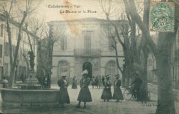 83 COLLOBRIERES / La Mairie Et La Place / - Collobrieres