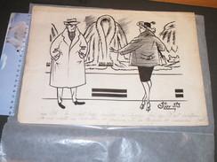 STOWIEZKY Serge, Dit STOV, Dessin Humoristique Original 24/32,5 Cm - Other