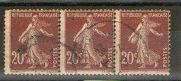 Bande De 3  N° 139-III°__papier GC_ - 1906-38 Sower - Cameo