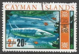 Cayman Islands. 1969 Decimal Overprints. 20c On 2/- Used. SG 249 - Cayman Islands