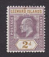 Leeward Islands, Scott #22, Mint Hinged, Edward VII, Issued 1902 - Leeward  Islands