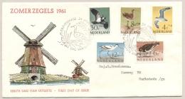 Nederland - 1961 - Zomer Serie Vogels / Birds Op FDC Naar Harkstede / Groningen - FDC