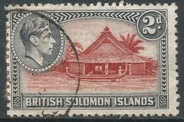 British Solomon Islands. 1939-51 KGVI. 2d Used. P 12 SG 63a - British Solomon Islands (...-1978)