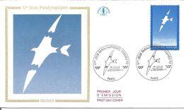 Vème Jeux Paralympiques Tignes 1991 Avec Fiche Explicative - 1990-1999