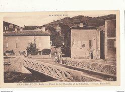 11 MAS CABARDES PONT DE LA PLACETTE ET LE CLOCHER CPA BON ETAT - France