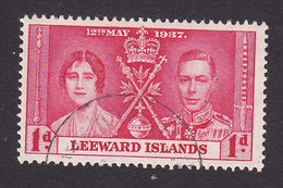 Leeward Islands, Scott #100, Used, Coronation, Issued 1937 - Leeward  Islands