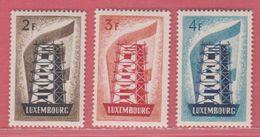 1956** Luxembourg (sans Charn., MNH, Postfrish)  Yv 514/6  Mi 555/7 - Europa-CEPT