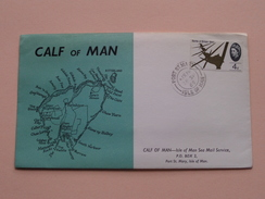 CALF Of MAN Isle Of Man Sea Mail Service ( FDC ) 1965 ( See Photo's ) ! - Man (Ile De)